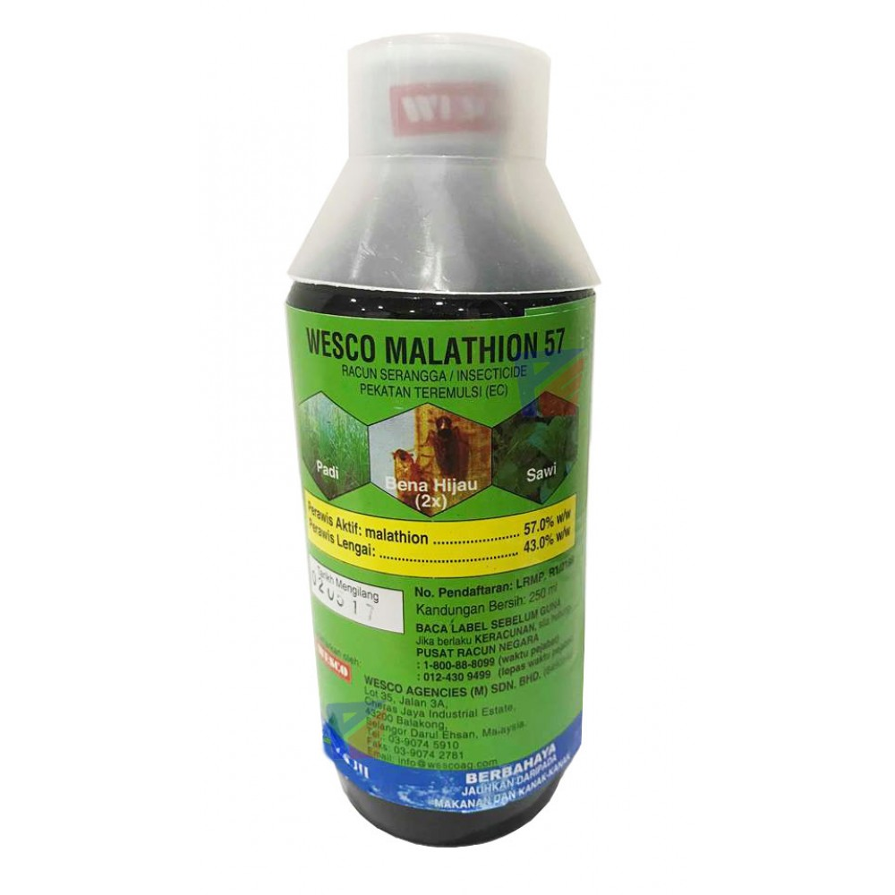 Wesco Malathion 57(bad bug/flea/kutu killer)-250ml
