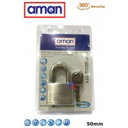 image of AMAN-304-5001 H/D Stainless Steel Padlock (4 Key)
