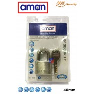 image of AMAN-304-4001 H/D Stainless Steel Padlock (4 Key)