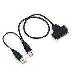 """USB 2.0 To 2.5"""" Laptop SATA HDD SSD 22pin Converter Cable"""
