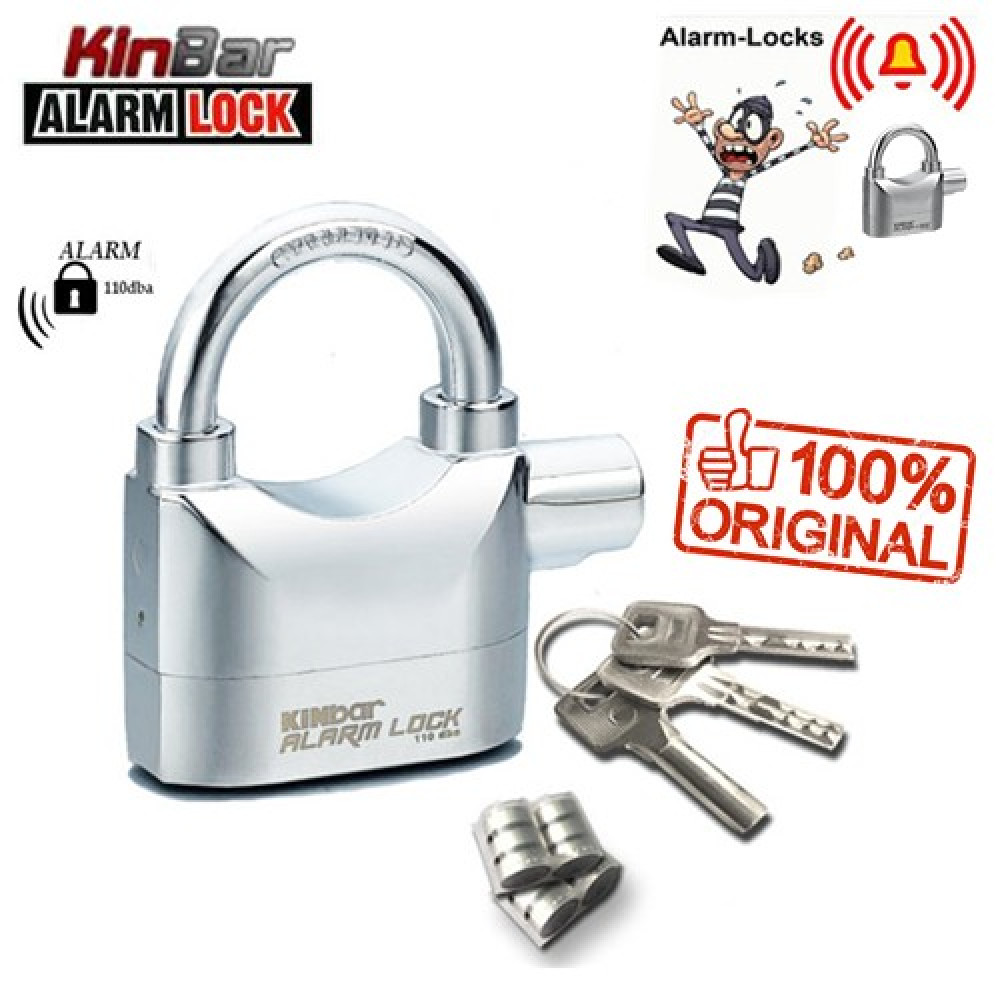 KINBAR 110db Anti Theft Siren Alarm Padlock