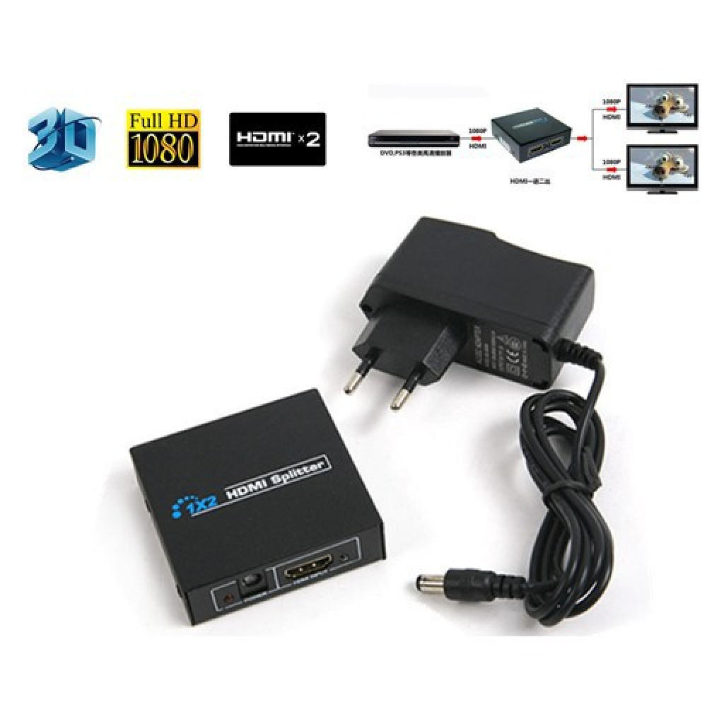 HDMI 3D HD 1080p Splitter - 1 in 2 Out