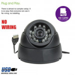 DOME MicroSD Day & Night Indoor Surveillance CCTV Camera