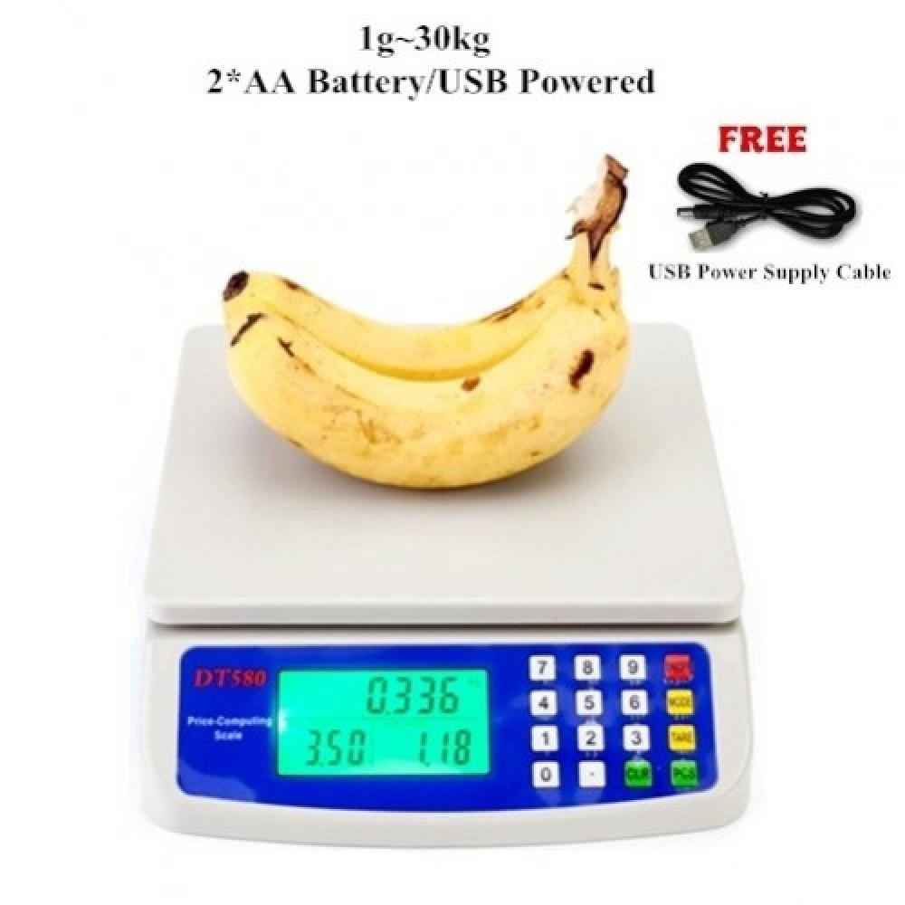 DT-580 1G~30KG USB/Battery Electronic Digital Scales