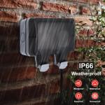IP66 Weatherproof Outdoor 13A 2 Gang Electrical Socket