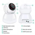 V380 Q9 720p Day & Night Wireless P2p Ip Ptz Cctv Camera