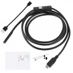 USB Android+PC 7mm Soft Tube Endoscope Wire Pinhole Camera - 5m