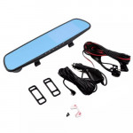 "R5 4.3"" LCD Blackbox Dual Lens Rearview Mirror Dash Cam"