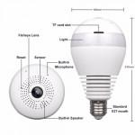 Bulb Light 360° Panoramic Day & Night WiFi P2p Cctv Camera