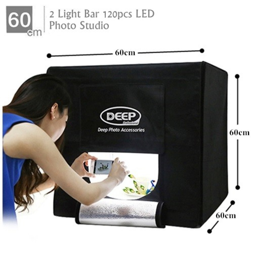 DEEP Professional LED Photography Studio Light Box - 60*60cm