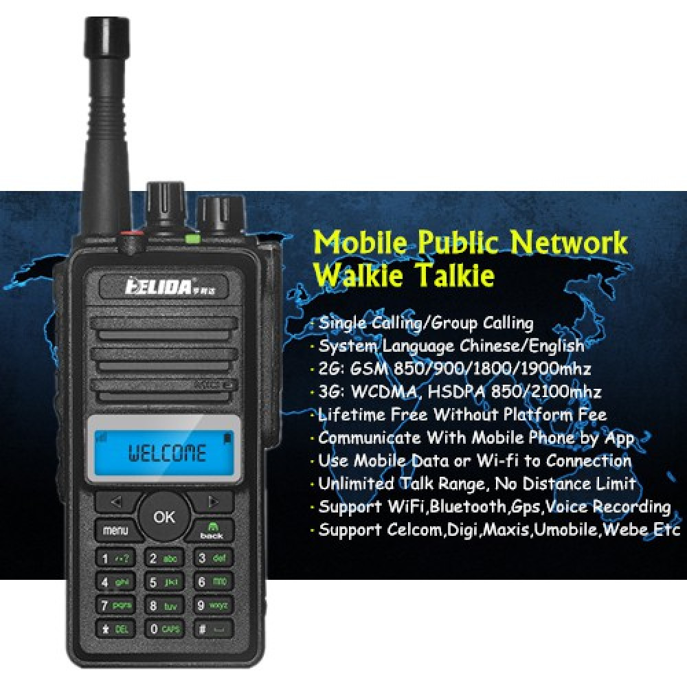 HLD CD880 Global Mobile Public Network Walkie Talkie - 9999KM