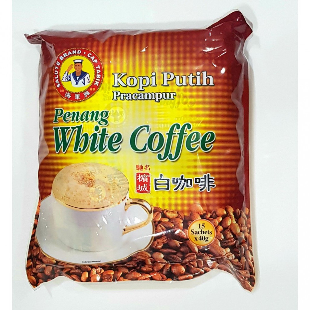 Salute Brand Cap Penang White Coffee 15 sachets X 40gm Buy 3 Save More
