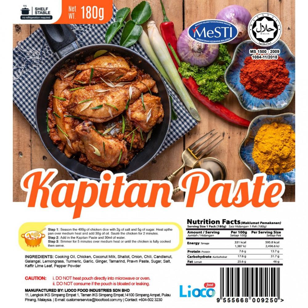 [HALAL - Lioco Food] Kapitan Paste (Ready To Eat - Marketplace Harian)