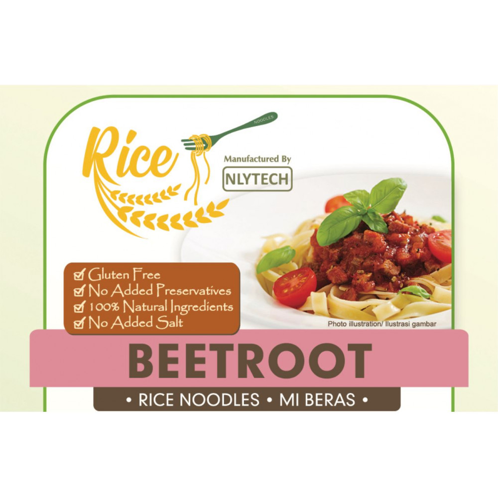 (Buy 3 Free 1!)[HALAL & VEGAN Friendly - NYLTECH] Beetroot Rice Noodle (Gluten Free - Marketplace Harian)