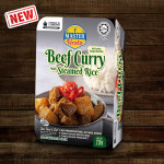 [HALAL - Master Pasto] 3-Minute Beef Curry with Steamed Rice (Convenience Pack  - Marketplace Harian)