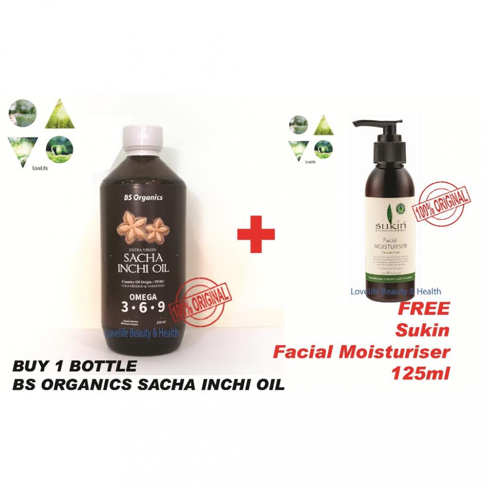 Sacha inchi oil 印加果油250ml + Get FREE 125ml Sukin Facial Moisturiser