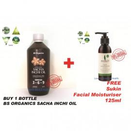 image of Sacha inchi oil 印加果油250ml + Get FREE 125ml Sukin Facial Moisturiser