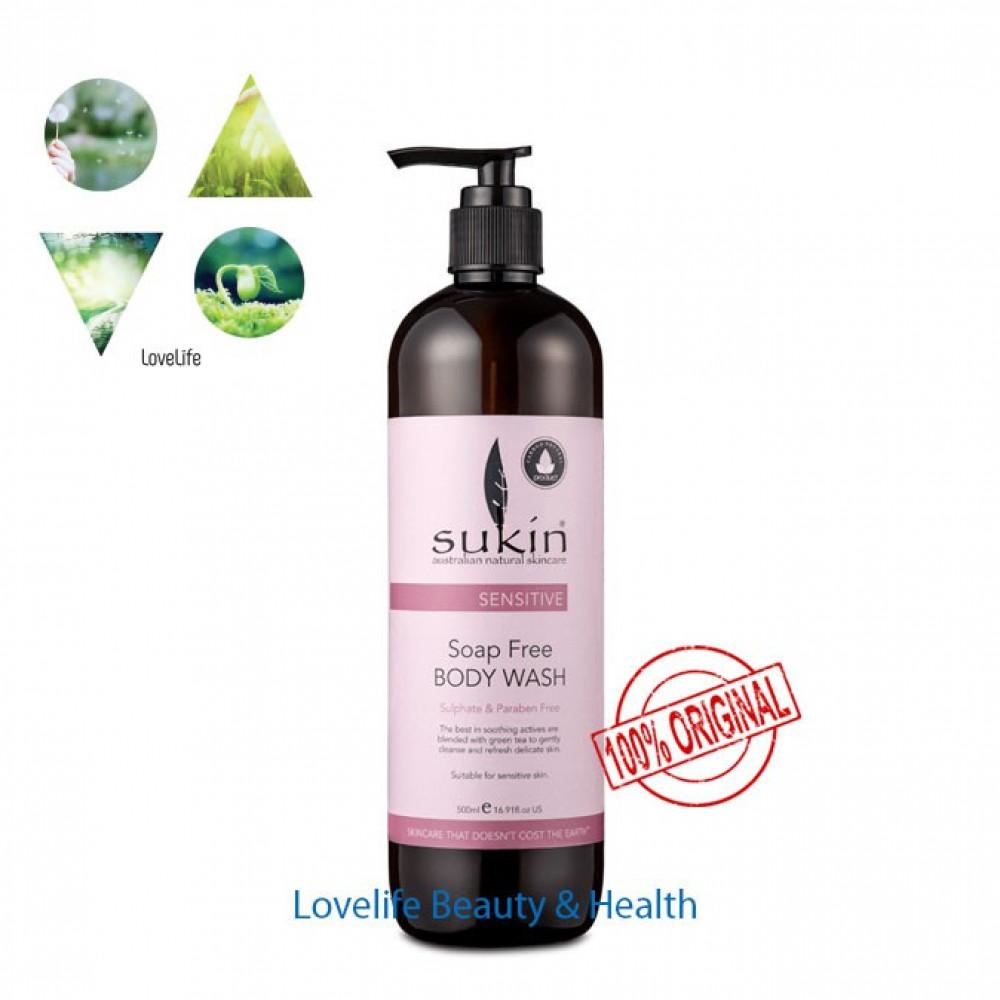 Sukin Sensitive Soap Free Body Wash 500ml