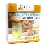 EVIN DOUBLE ZIP LOCK BREAST MILK STORAGE BAGS