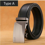 clanlntl classic leather Automatic Belt Buckle