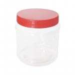 Transparent Bottle Biscuit Bucket(RED) No:102