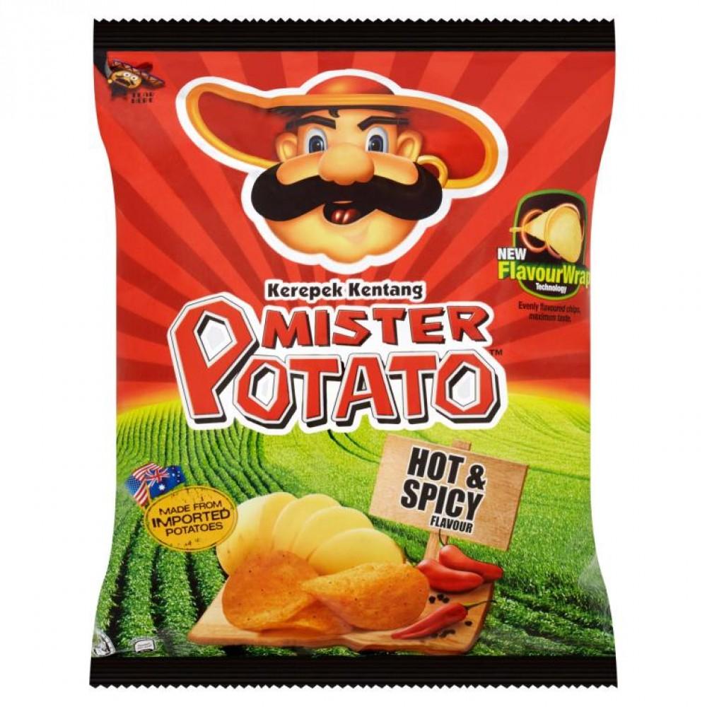 Mister Potatoes Crisps 20 x 15g (Hot & Spicy)