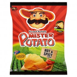 image of Mister Potatoes Crisps 20 x 15g (Hot & Spicy)