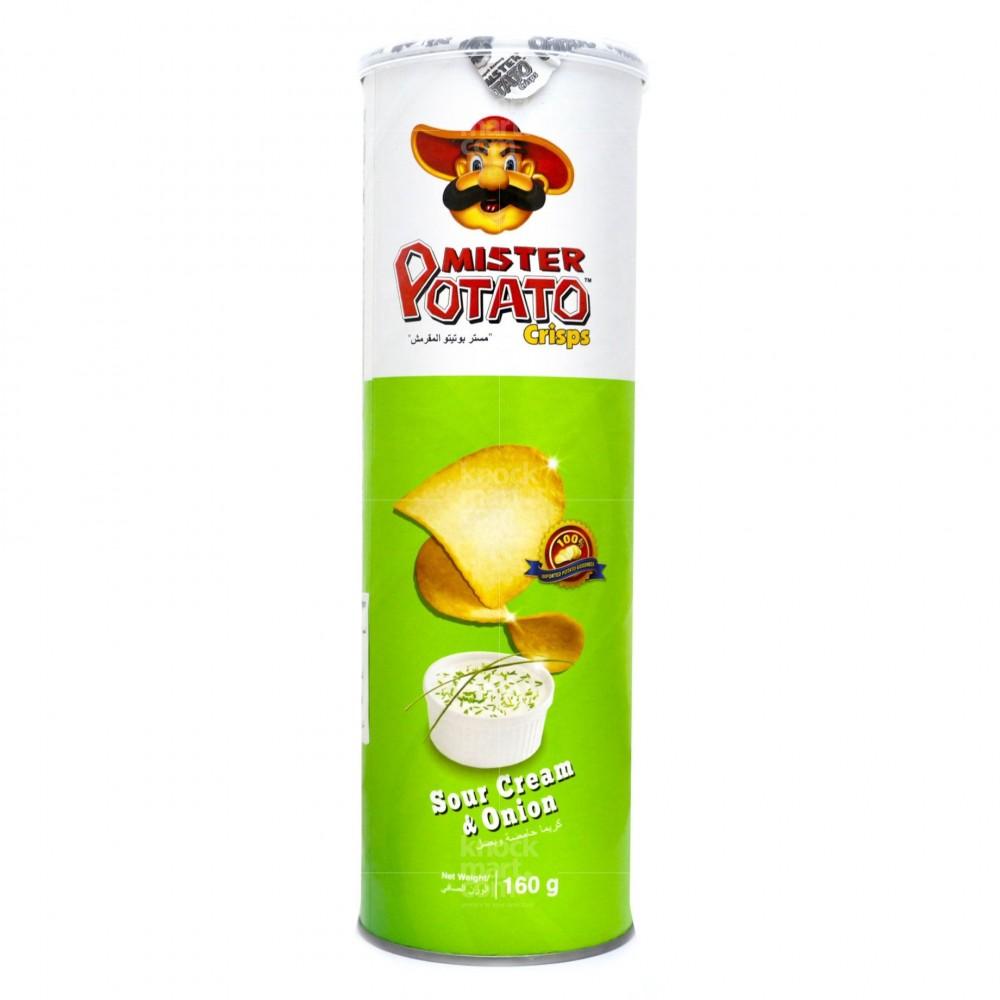 Mister Potato Crisps Sour Cream & Onion 160g