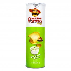 image of Mister Potato Crisps Sour Cream & Onion 160g