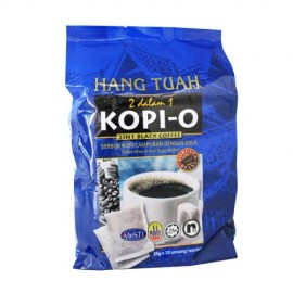 image of Hang Tuah Kopi-O 2 in 1 Black Coffee Robusta Beans (20  x 25g)