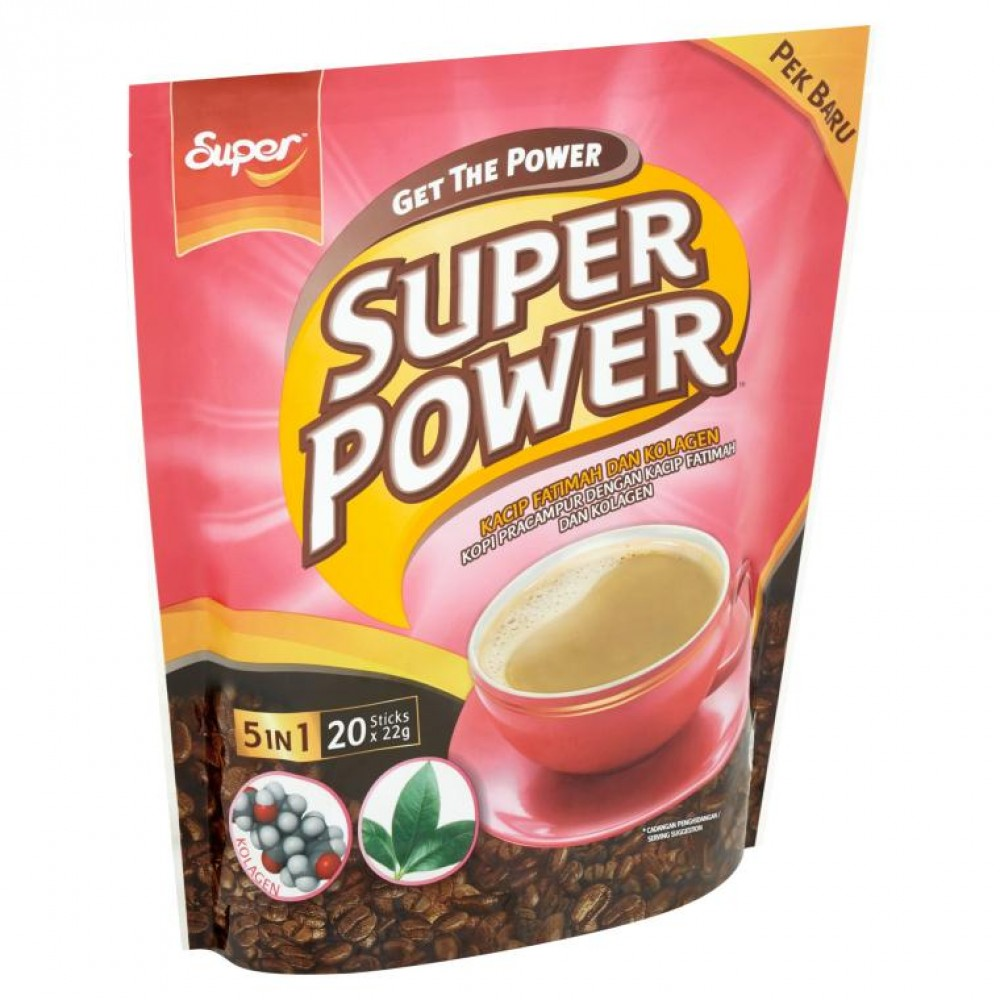 Super Power 5 in 1 Coffee Kacip Fatimah and Collagen (20 x 22g)