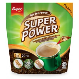 image of Super Power 6 in 1 Coffee Tongkat Ali, Ginseng & Misai Kucing (20's X 30g)