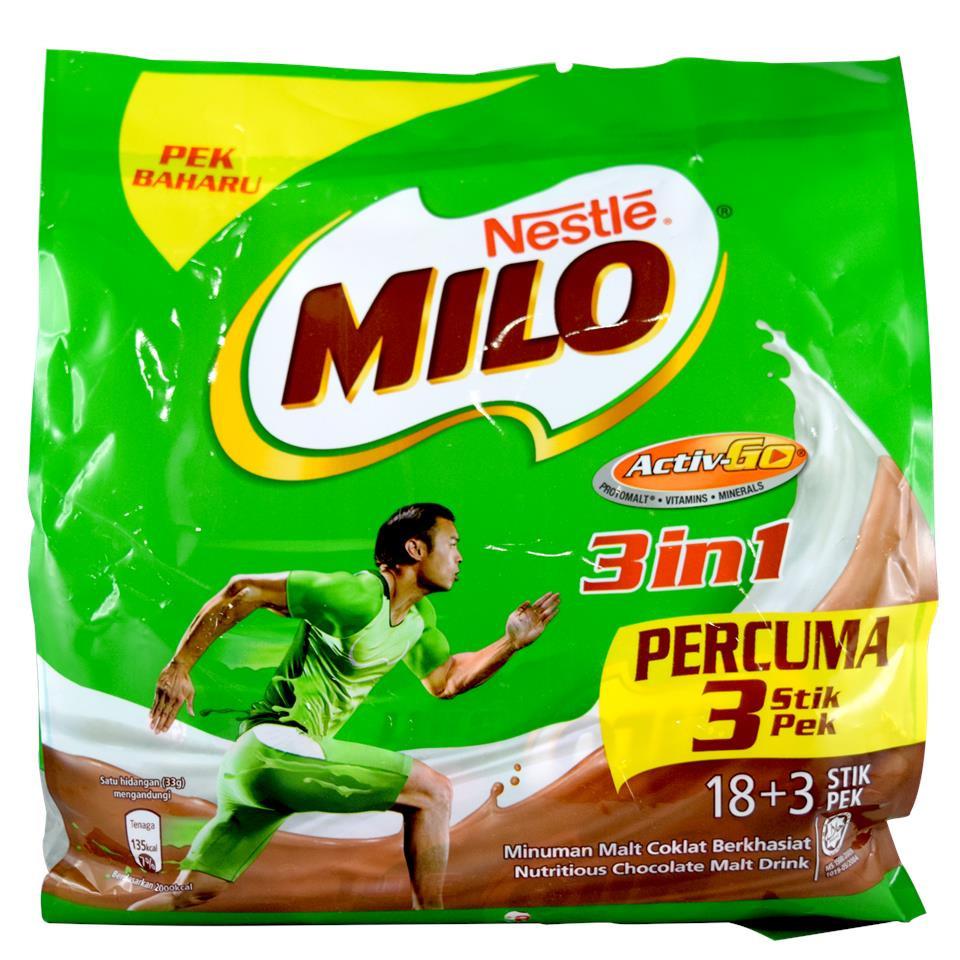 image of Nestle Milo Activ Go 3 In 1 (21 stick pack)