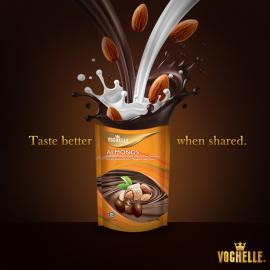 image of Vochelle Milk Chocolate (Almonds) 100g
