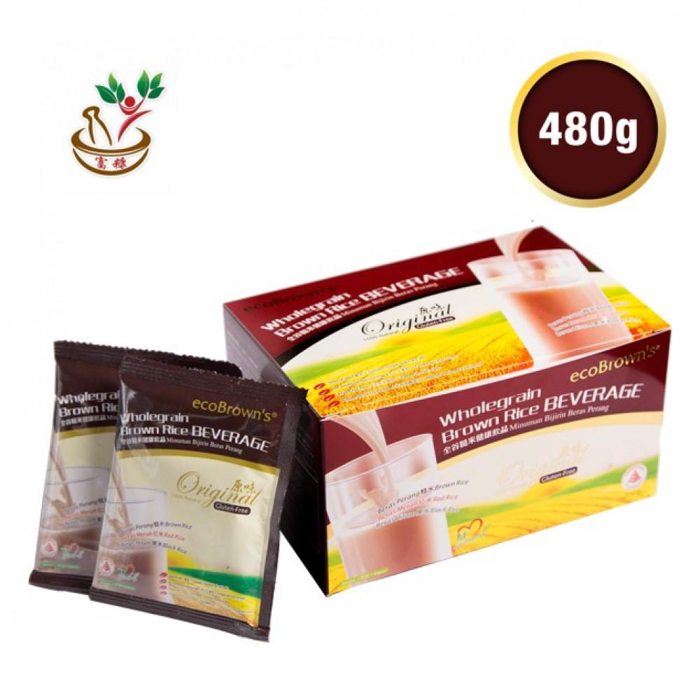 EcoBrown Brown Rice Beverage Original Flavour 16's x 30gm