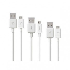 image of UNIVERSAL ANDROID MICRO USB CABLE (WHITE) With Packing
