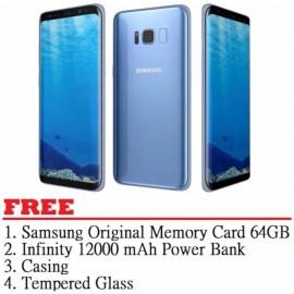 image of Samsung Galaxy S8 Plus 64GB (Blue) - Malaysia Set