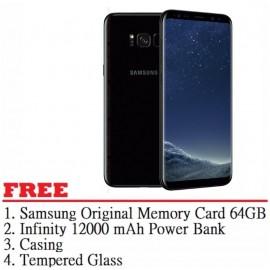 image of Samsung Galaxy S8 Plus 64GB (Black) - Malaysia Set