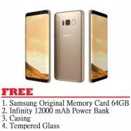 image of Samsung Galaxy S8 Plus 64GB (Maple Gold) - Malaysia Set