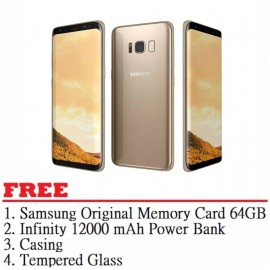 image of Samsung Galaxy S8 Plus 64GB (Maple Gold) - Malaysia Set