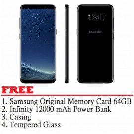 image of Samsung Galaxy S8 64GB (Black) - Malaysia Set