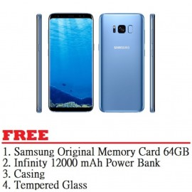 image of Samsung Galaxy S8 64GB (Coral Blue) - Malaysia Set