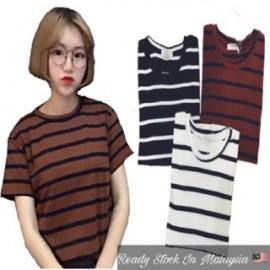 image of (MY Ready Stock) Korean Stripe Tee Batch 1 LH06