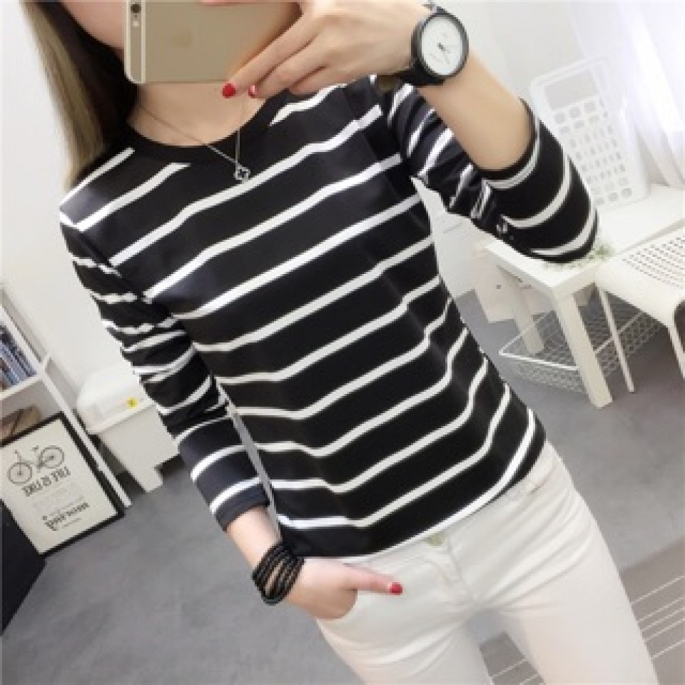 (MY Ready Stock) Korean Stripe tee batch 4 LH46