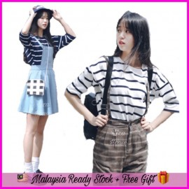 image of (MY-Ready Stock) Korean Striped Tee Batch 2 LH16