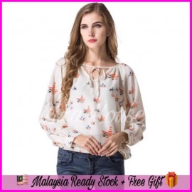 image of (MY Ready Stock) Long Sleeve Loose Blouse LH54