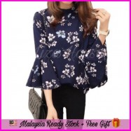 image of (MY Ready Stock) Floral Korean Blouse LH61