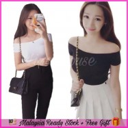 image of (MY Ready Stock) Off Shoulder Basic Top LH62