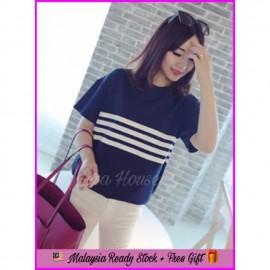image of (MY Ready Stock) Candy Stripe Tshirt LH44