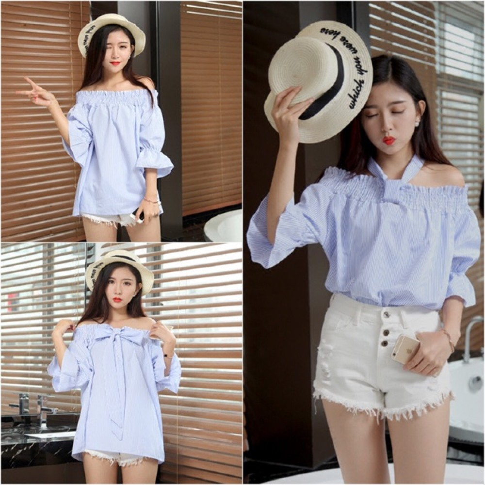 (MY Ready Stock) 3 Way Off Shoulder Top LH42